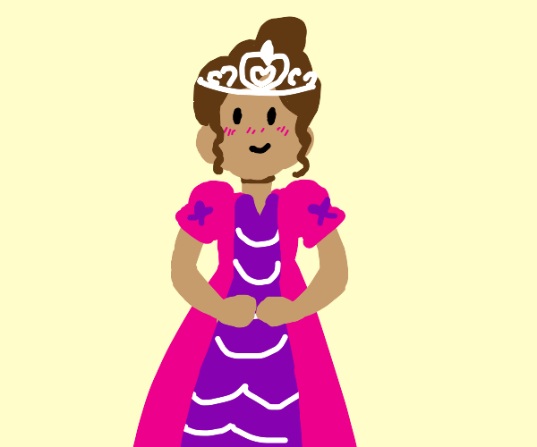princess with pink and purple dress