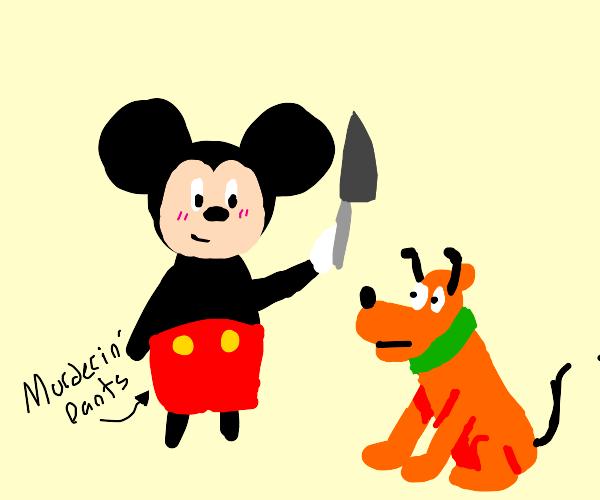 Mickey murders Pluto