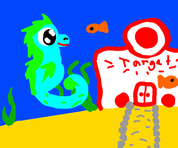 Seahorse goes to the target store