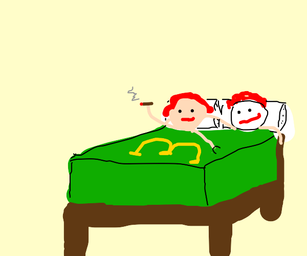 Wendy sleeping in Ronalds bed :o