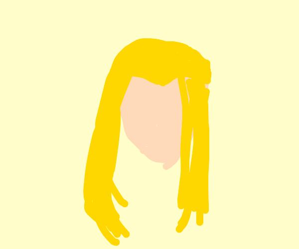 Blond has a 5 o'clock shadow