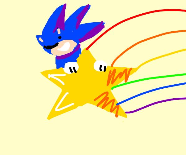 Hedgehog on a Star