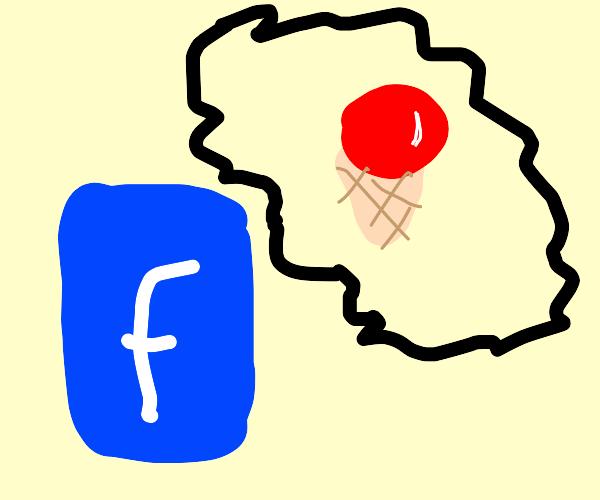 Facebook thinks of ice cream