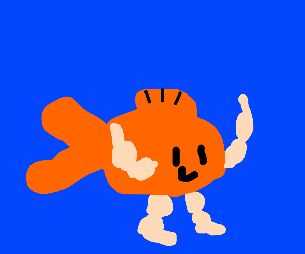 Goldfish with arms and legs