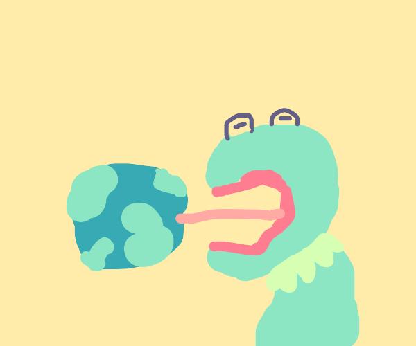 kermit eats earth