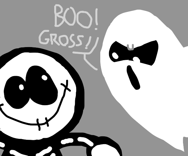 ghost is disgusted at skid