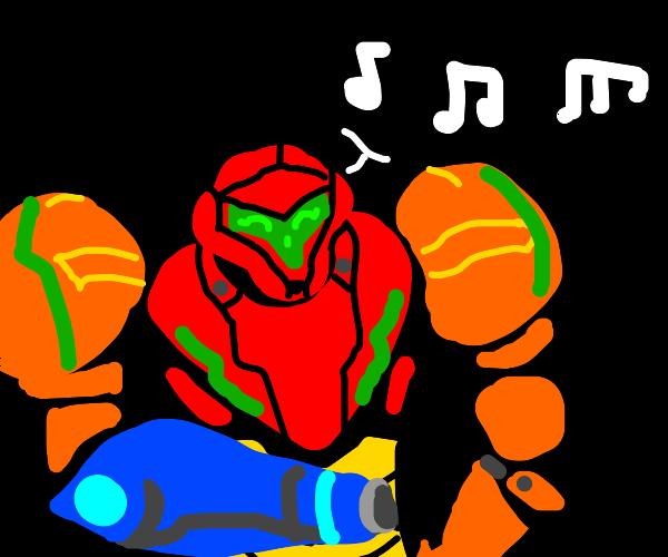 Singing in my power suit