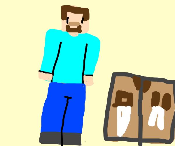 Minecraft Steve Crafting