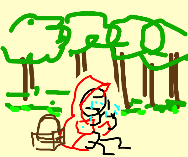 Red Riding Hood Crying