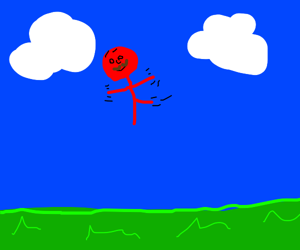 Red Sky Dancer With a Mustache