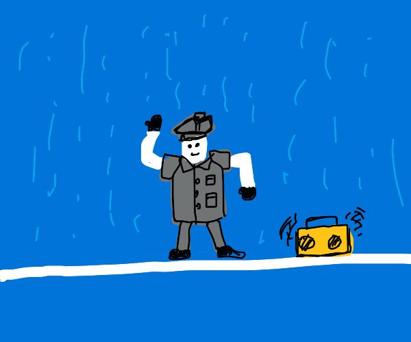 dancing in the trench coat :0