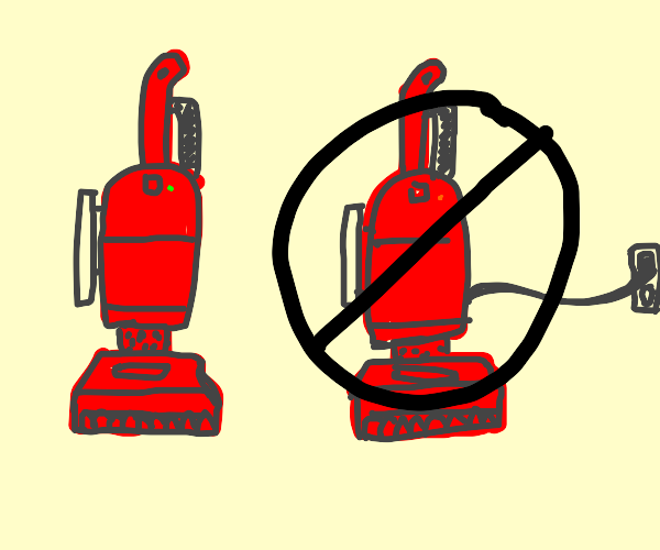 ONLY CORDLESS VACUUMS ALLOWED