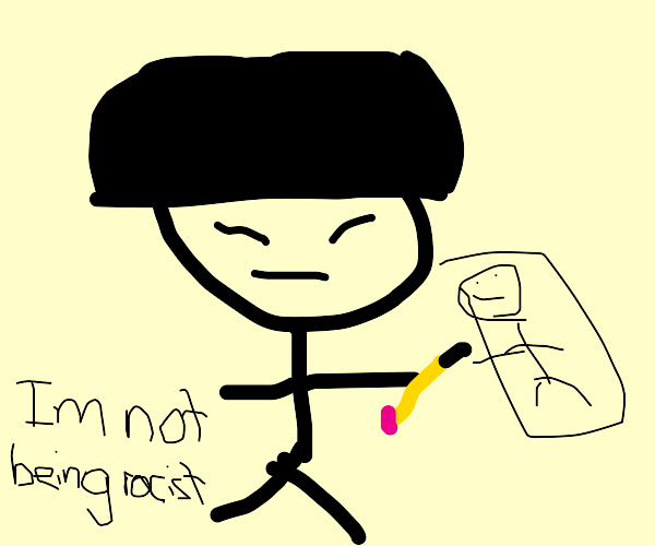 Asian guy drawing
