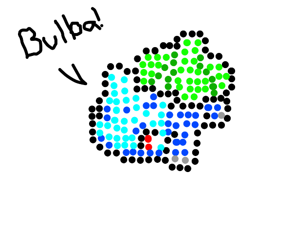 Pixel Art Of A Pokemon