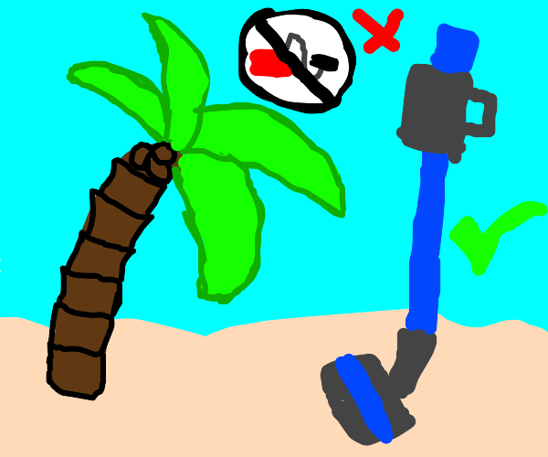 palm tree that wants a dyson only