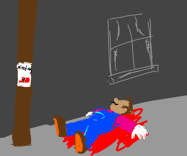 Mario loses his hat and dies