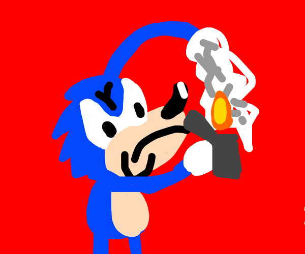 Sonic torches a giant crumpled up paper