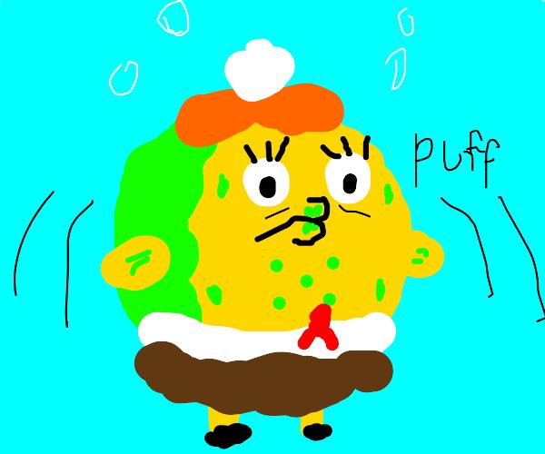 Spongebob but he's Mrs. Puff