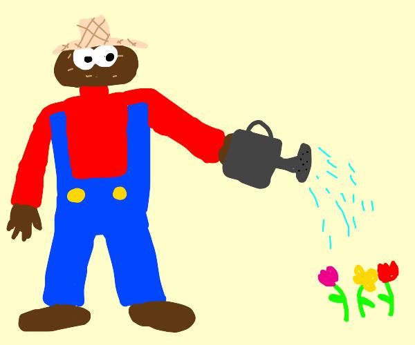gardener with a potatoe head