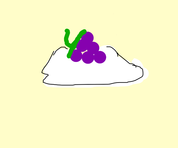 grapes growing from a cloud
