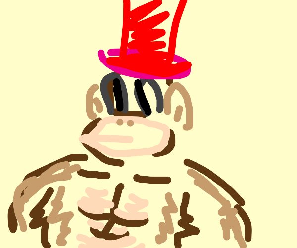 King Kong wearing a Hat
