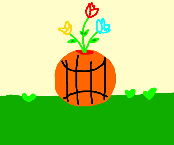 Basketball flower