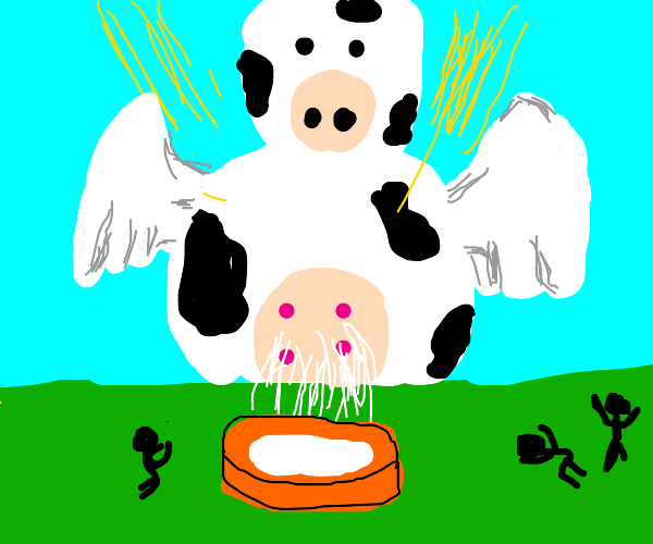 The cow god spreads its milk