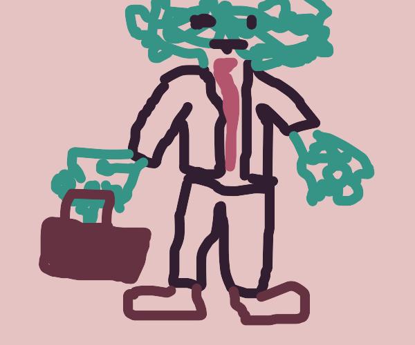 Creepy furry business man