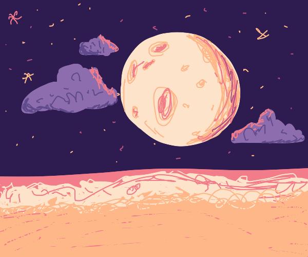 night on the shore