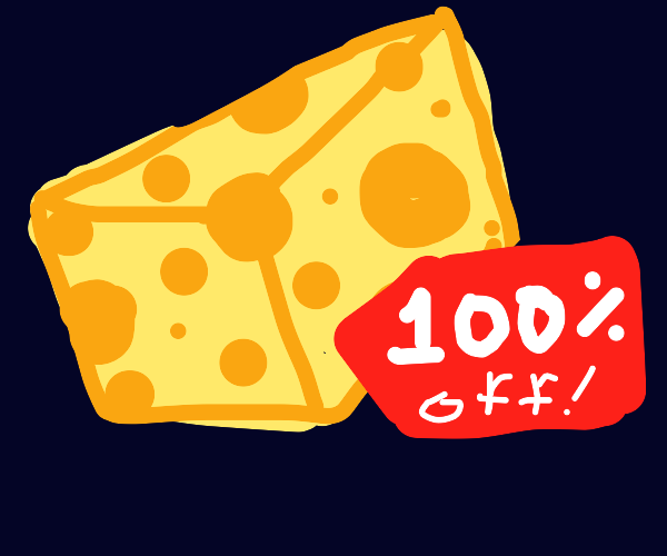 100 percent off cheese