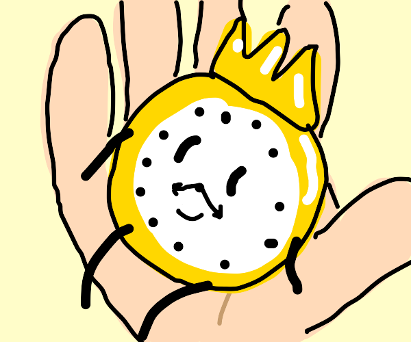 king time but the watch is on the palm