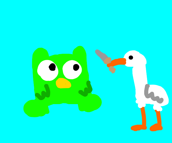 Duolingo meets the Horrible Goose