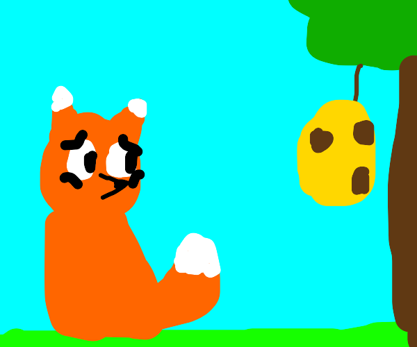 Fox doesn't wanna be stung by bees