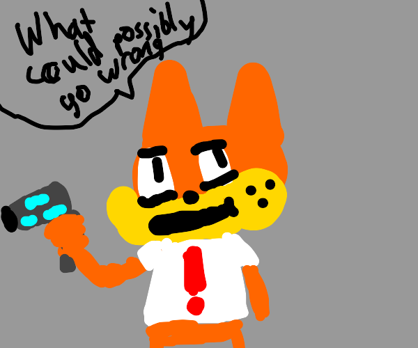 bubsy the cat with a laser gun
