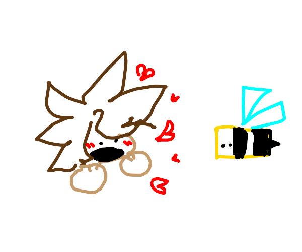 boy loves bee