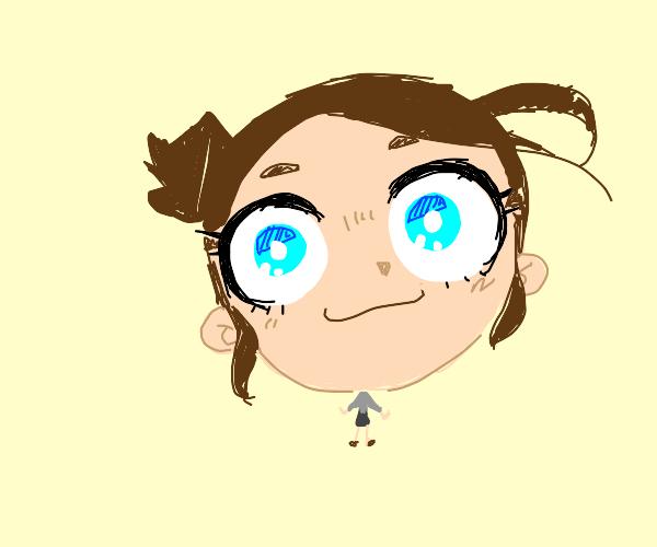 Girl with Huge anime head