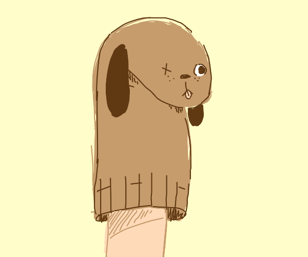 silly hand puppet doggo