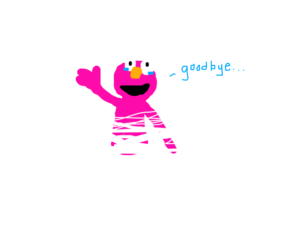 Pink Elmo is fading