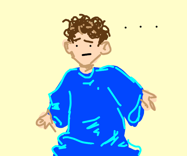 An extra large blue t shirt