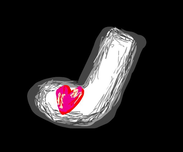 heart in sock