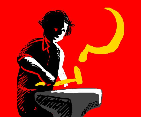 Communist blacksmith