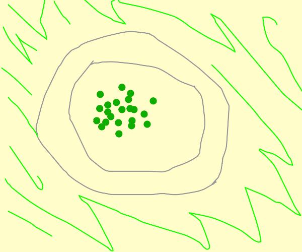 peas on a plate