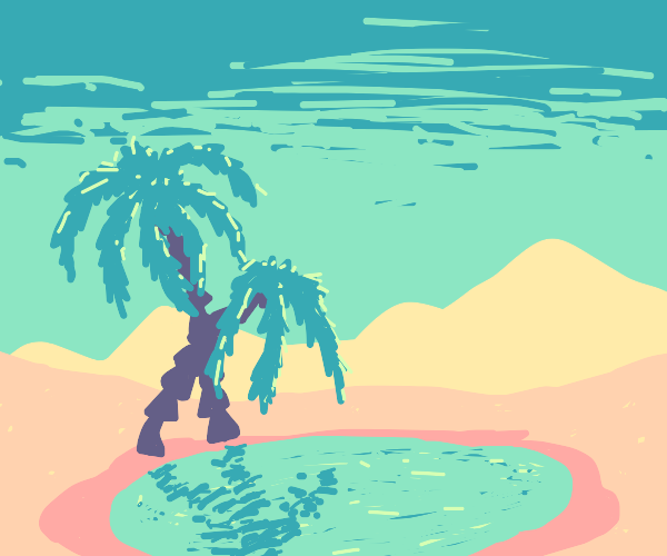 Two Palm trees at the oasis