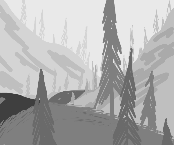 Trees on a series of hills