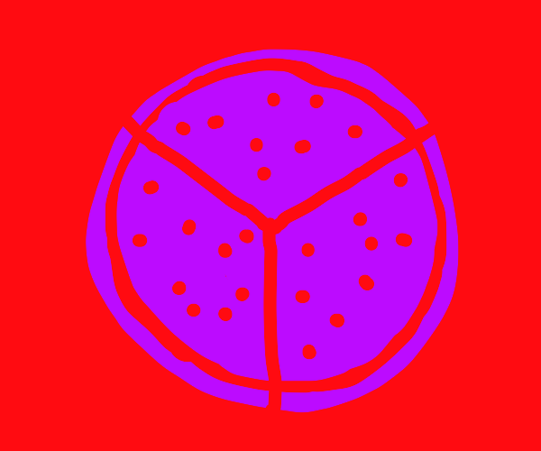 pizza gets cut into 3