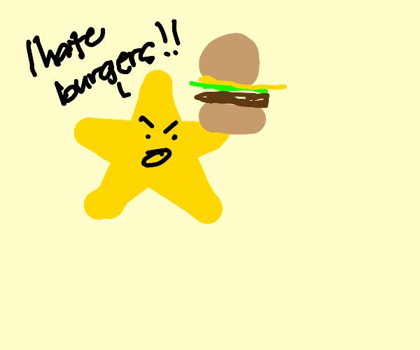 star hates hamburger