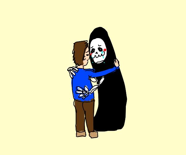 Grim Reaper needs a hug