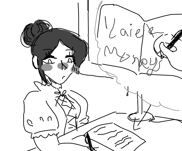A rich, illiterate,girl writes a diary entry