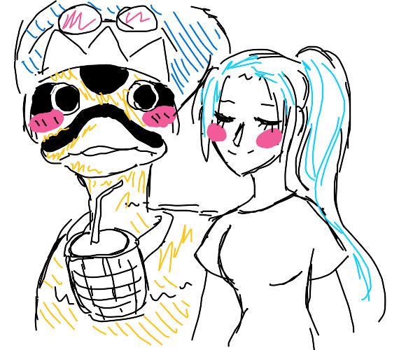 One Piece Princess Vivi with her Duck Friend