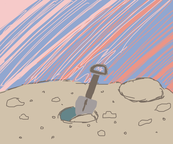 Shovel digging a hole by it self